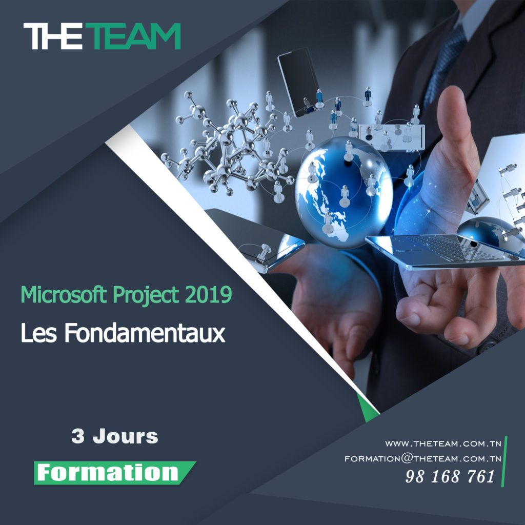 THE TEAM Tunisie Formation Microsoft Project 2019 les fondamentaux Project Server PPM