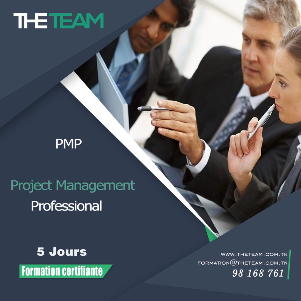 THE TEAM Tunisie - Formation PMI PMP Project Management Professional 5 jours certifiante BeAgile