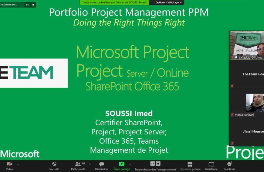 Webinaire Microsoft PPM : Project & Portfolio Management MS Project / Project Server / Project Online