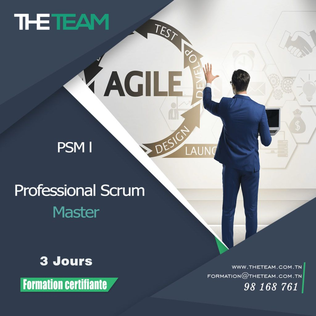 THE TEAM TUNISIE E-learning Formation PSM Professional Scrum Master Exam Prep