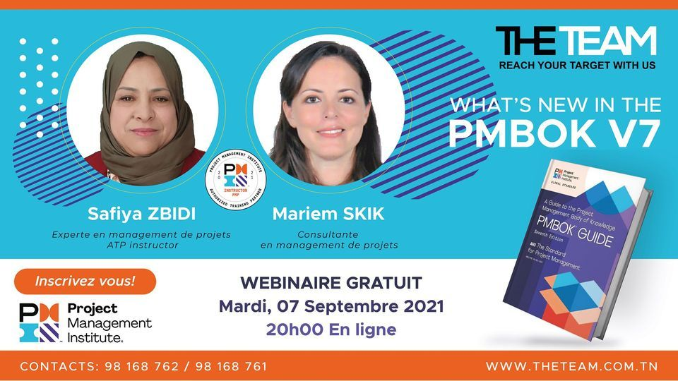 Webinaire – What's New In The PMBOK V7
