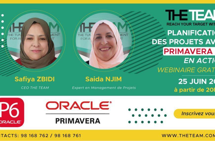 Webinaire Oracle Primavera P6 – Planification Des Projets